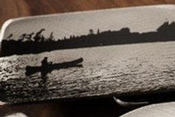 "Canoe on Lake (3"" x 2"")"
