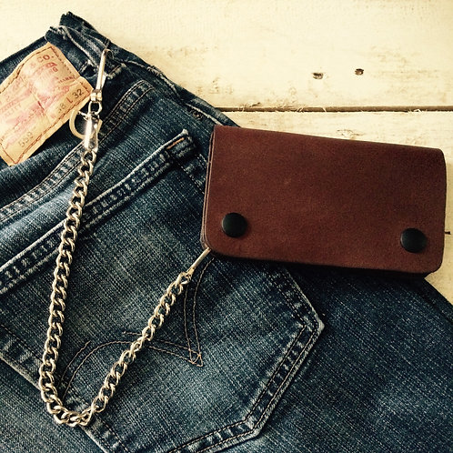 Brown Wallet with Chain