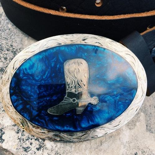 "Tarahumara Sliver Plate Buckle (3""x4"")"