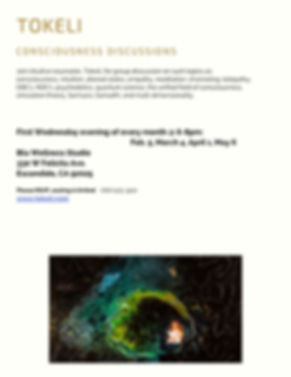 updated Consciousness Discussions flyer.