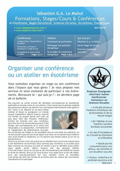 Stages et Conférences Sébastien Le Maôut Sorcier