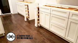 Decorative fronts for spice pullouts