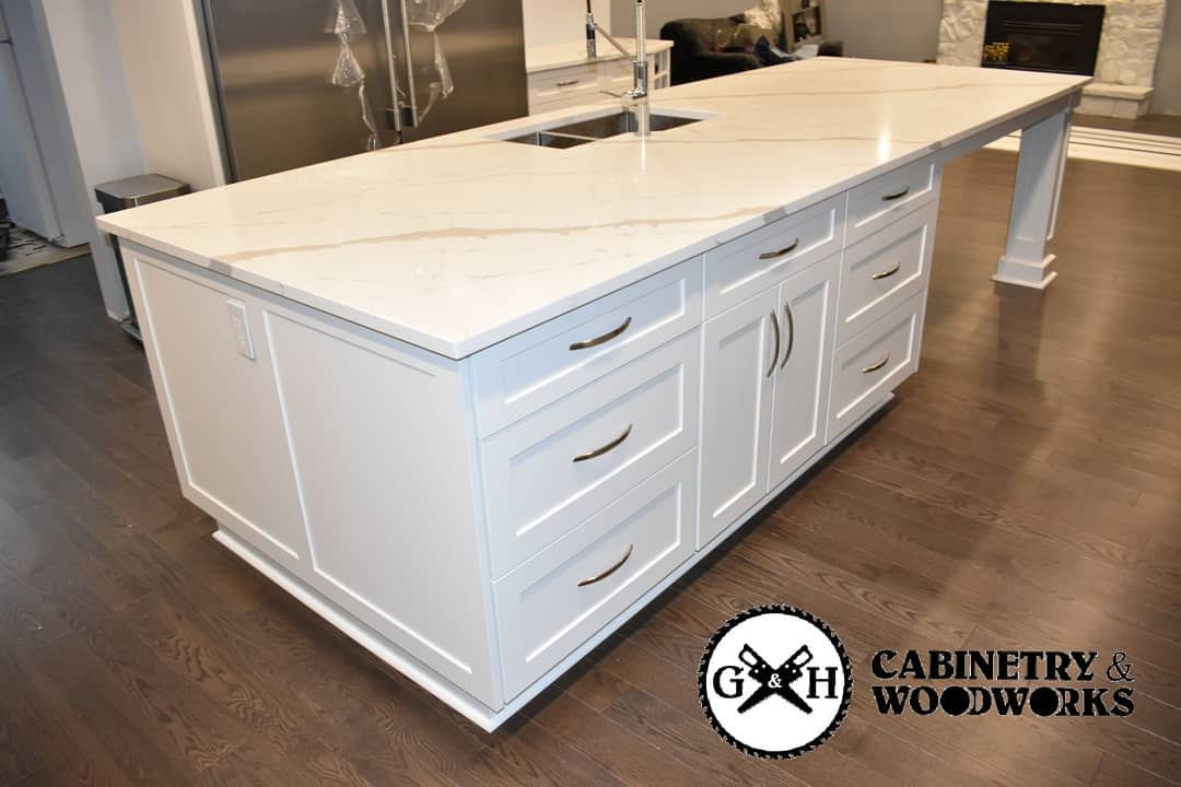Georgetown white kitchen island 2