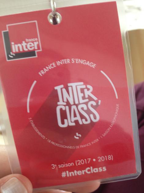Mardi 20 mars 2018 vers 7h15 : Matinale de France Inter : nos élèves de 1ère L prennent la parole…