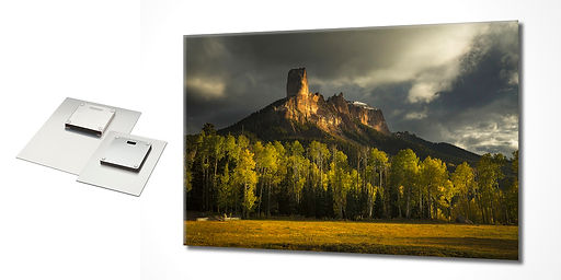 Chase Dekker's photos can be printed on metal.