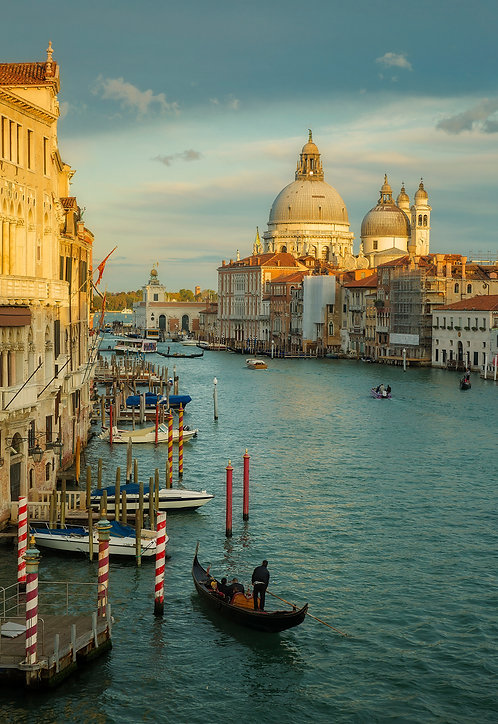 Sunset Over the Grand Canal - Matted Print