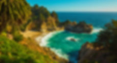 McWay Falls are photographed from a viewpoint along the Big Sur coastline on Chase Dekker's Big Sur workshop.