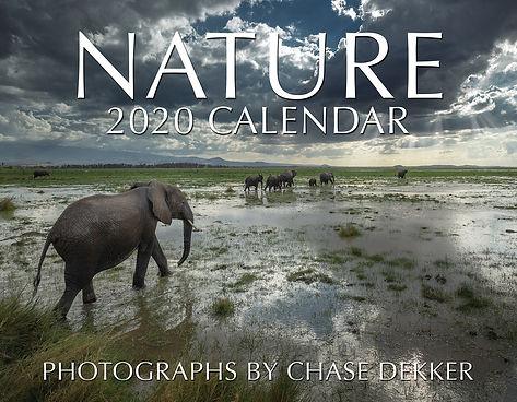 Chase Dekker's 2020 Nature Calendar cover.