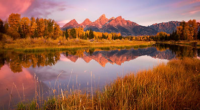 The Teton range is photographed from Schwabacher's Landing on Chase Dekker's Grand Teton photography workshop.