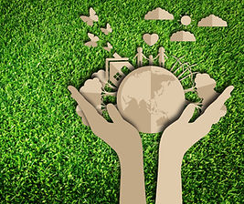 Paper cut of eco on green grass.jpg