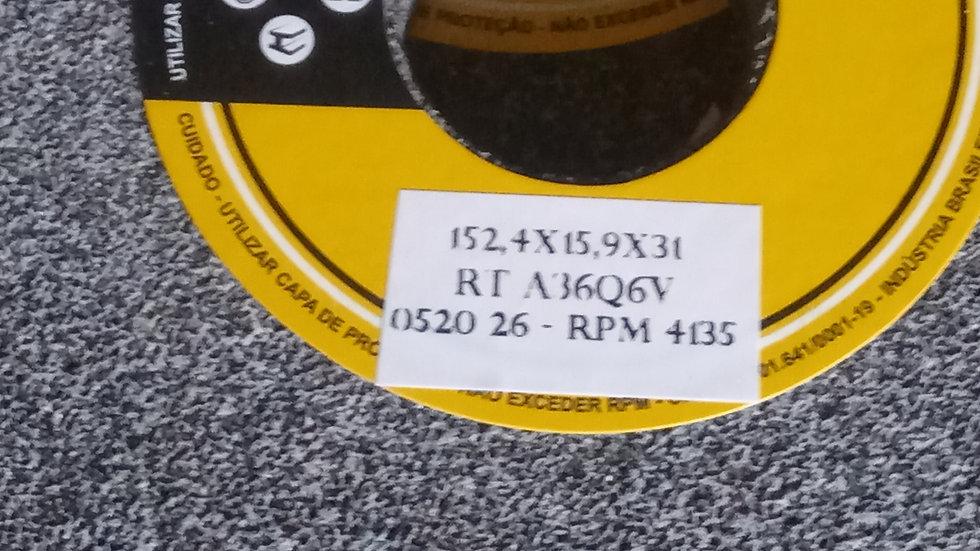 Rebolo Esmeril 152,4 x 16 x 31,8 Uso Geral