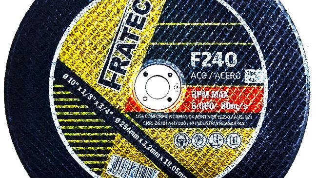 "disco corte industrial aço 10"" 254  x3,2 x 19"
