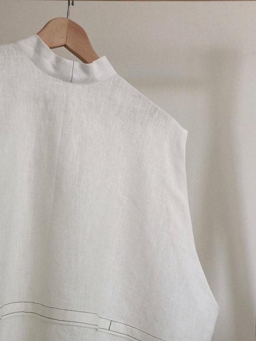 Linen Pleat Top