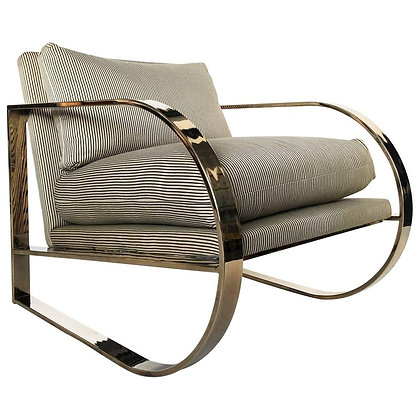 Geometric Form Lounge Chair by John Mascheroni for Swaim Originals