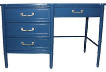 Blue Lacquered Henry Link Desk