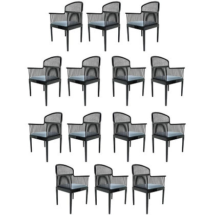 "Set of 14 Vintage Davis Allen ""Andover"" Chairs for Stendig"