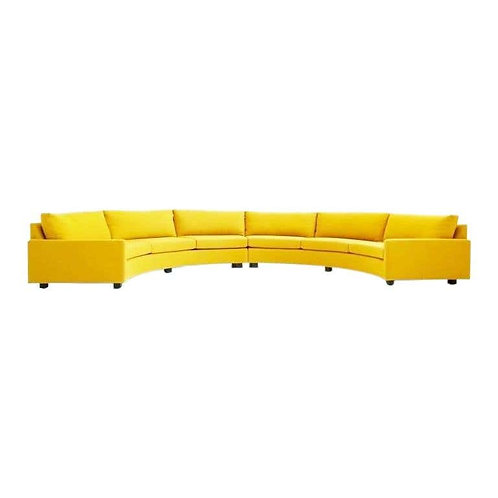 LARGE HALF CIRCLE SECTIONAL BY MILO BAUGHMAN FOR THAYER COGGIN
