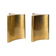 Pair of Brass 'Trilobi' Dining Table Bas