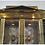 Thumbnail: Pair Mastercraft Empire Style Brass Vitrine Cabinets
