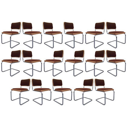 "Set of 17 Brown Marcel Breuer ""Cesca"" Chairs"