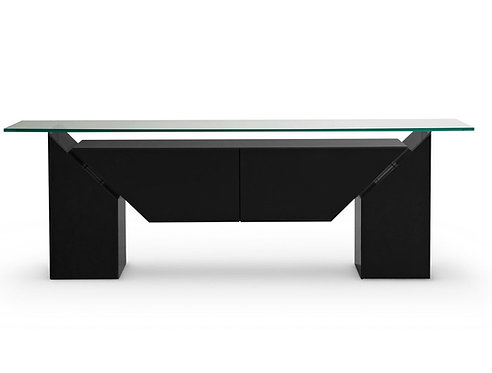 BLACK LACQUERED SIDEBOARD BY GORGONI LUIGI FOR ROCHE BOBOIS