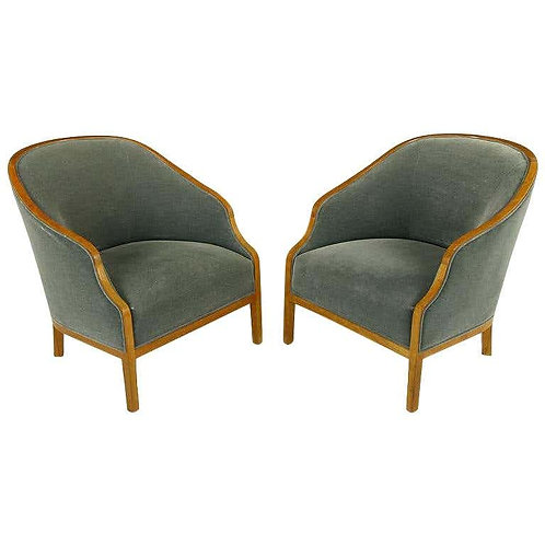 PAIR OF MIDCENTURY BANKERS LOUNGE CHAIRS BY WARD BENNETT