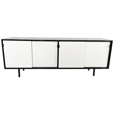 Florence Knoll Black and White Lacquered