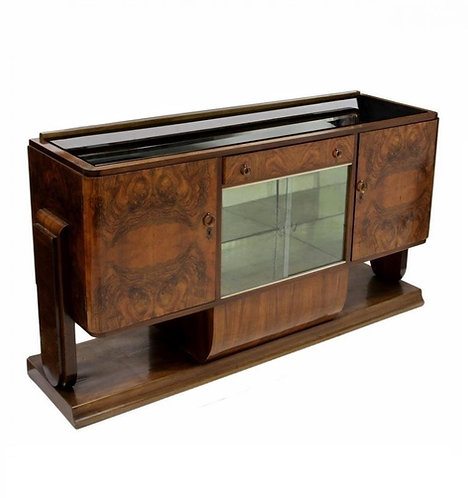 1920s ITALIAN ART DECO MIRRORED SIDEBOARD