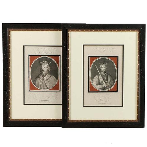 JOHN GOLDAR VINTAGE RESTRIKE ENGRAVINGS ON PAPER OF PORTRAITS