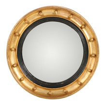 Giltwood and Gesso Round Convex Wall Mirror