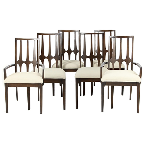 "SET OF SIX MID-CENTURY MODERN BROYHILL ""BRASILIA"" DINING CHAIRS"