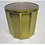 Thumbnail: Mastercraft Faceted Brass Dining Table