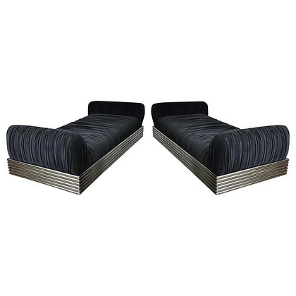 "Pair of ""Radiator Beds"" Designed by Stanley Jay Friedman for Brueton"