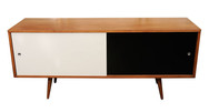 Paul Mccobb Planner Group Black & White Lacquered Cabinet