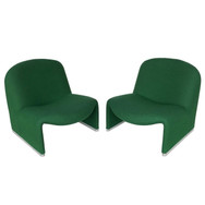"Pair of Giancarlo Piretti ""Alky"" Slipper Lounge Chairs"