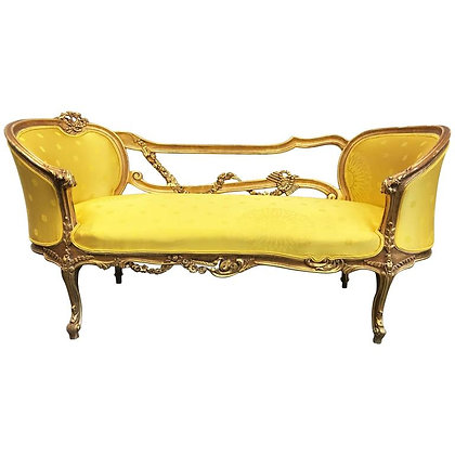 19th Century French Rococo Style Louis XV Giltwood Settee