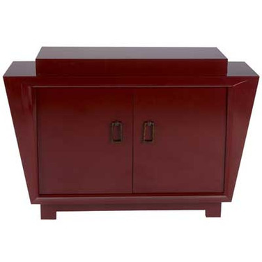James Mont Cabinet in Red Lacquer