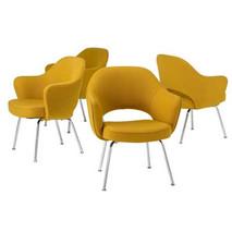 Eero Saarinen for Knoll Set of Four Armchanirs in Yellow