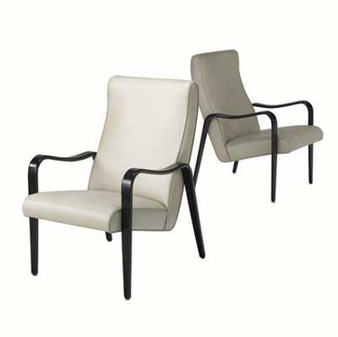 Pair of Lacquered Armchairs by Thonet