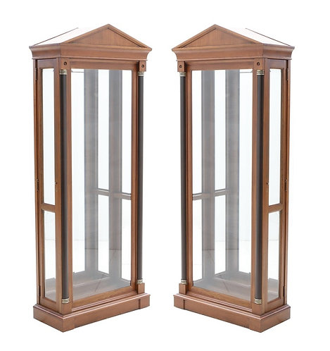 PAIR OF NEOCLASSICAL STYLE DISPLAY CABINETS