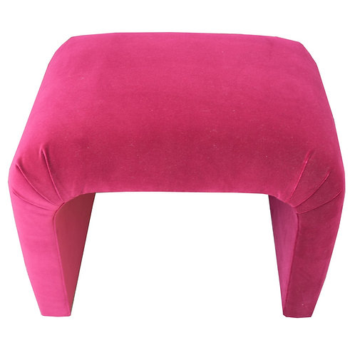 KARL SPRINGER STYLE PINK VELVET WATERFALL BENCH