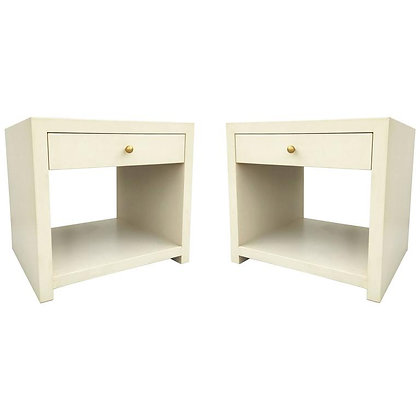Pair of Stunning Vintage Side Tables/Nightstands in the Style of Karl Springer