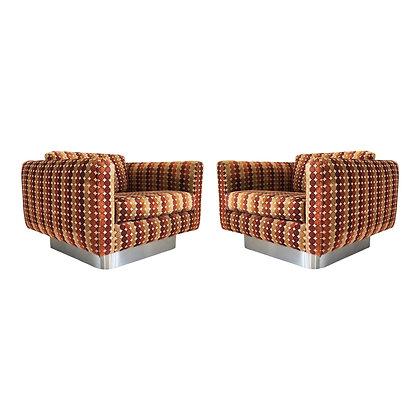 Fantastic Pair of Milo Baughman Lounge Chairs