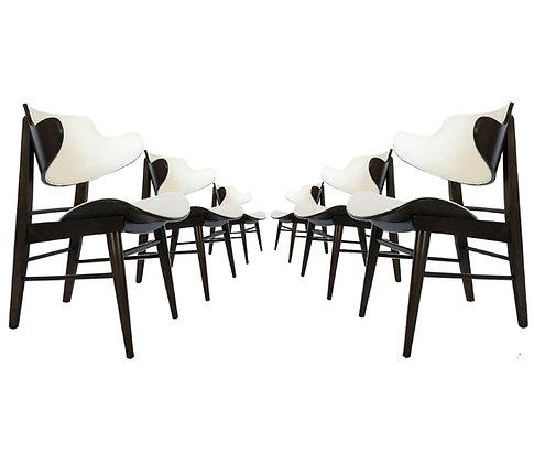 Six Seymour J. Wiener Dining/Lounge Chairs For Kodawood
