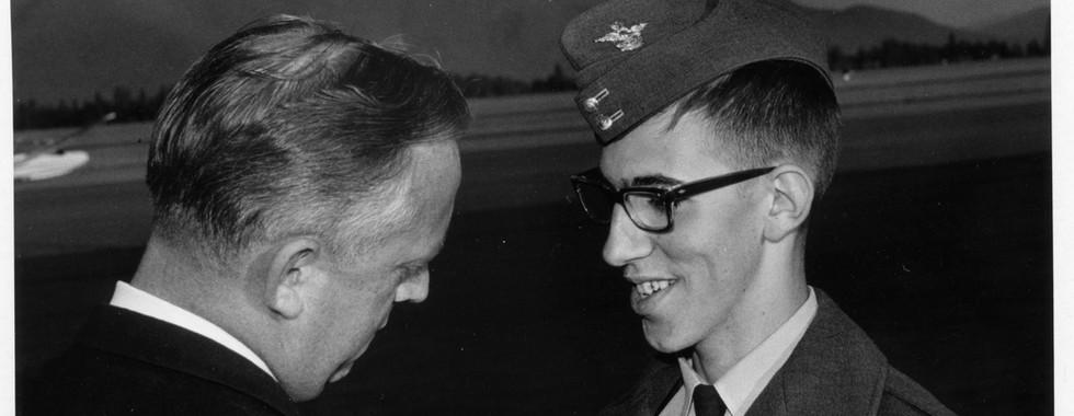 16. FSgt Ed Beauregard receiving wings,