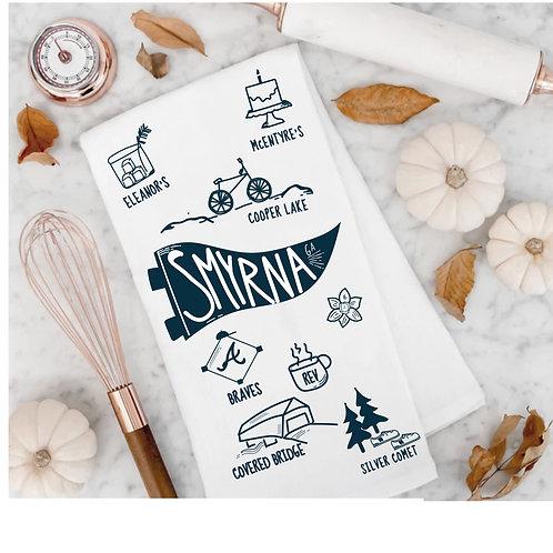 Smyrna . GA .  Flour Sack Towel