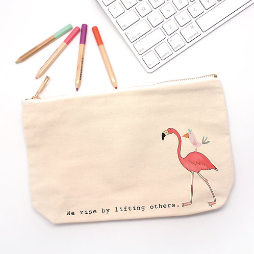 Flamingo Pencil Bag