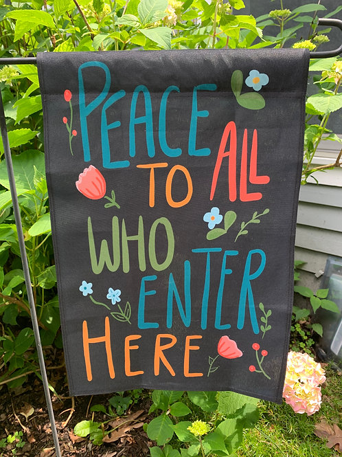 Peace To All Garden Flag