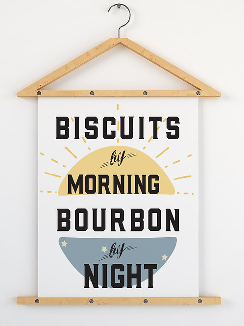 Biscuits & Bourbon Print