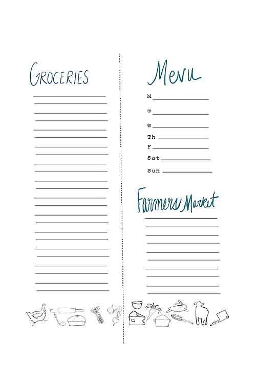 Menu & Grocery Printable